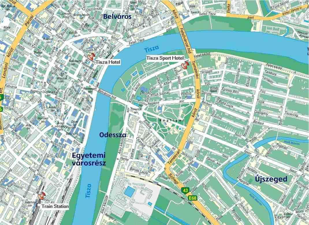Térkép Szeged Belváros